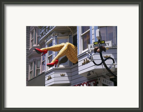 Legs In Window Sf Framed Print By Garry Gay