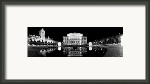 Leipzig Panorama Framed Print By Marc Huebner