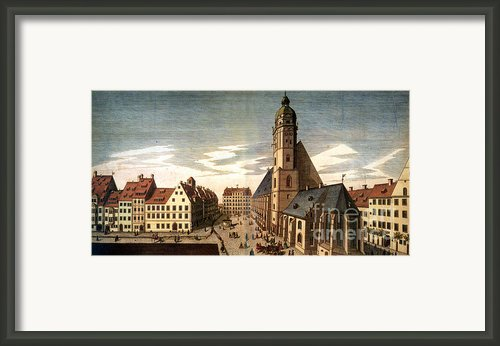 Leipzig: St. Thomas Church Framed Print By Granger