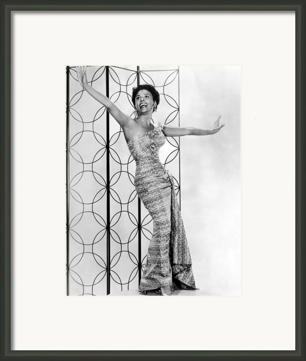 Lena Horne. Ca. 1950s. Courtesy Csu Framed Print By Everett