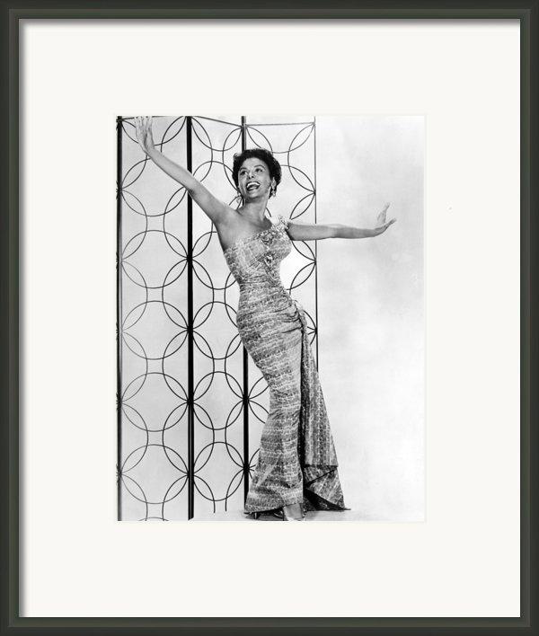 Lena Horne. Ca. 1950s. Courtesy Csu Framed Print By Everett
