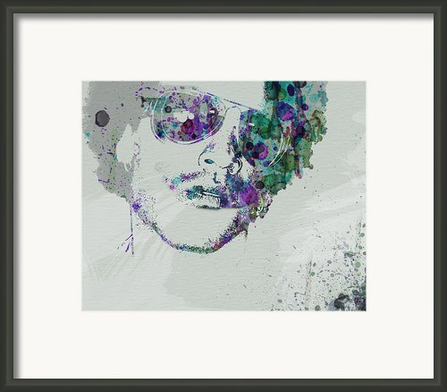 Lenny Kravitz Framed Print By Irina  March