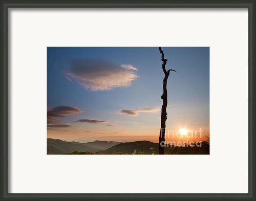 Lenticular Clouds Over Shenandoah National Park Framed Print By Dustin K Ryan
