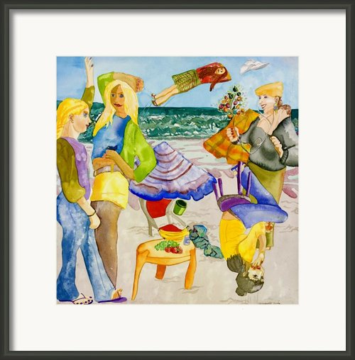 Les Demoiselles Of Santa Cruz V4 Framed Print By Susan Cafarelli Burke