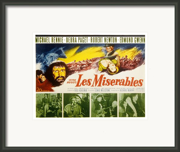Les Miserables, Michael Rennie, Debra Framed Print By Everett