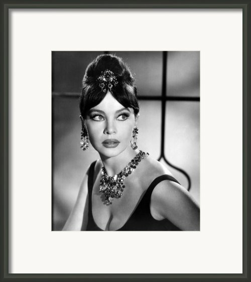 Leslie Caron, Late 1950s Framed Print By Everett