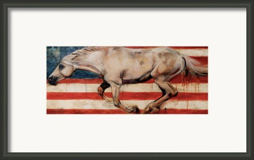 Let Freedom Run Framed Print By Mary Leslie