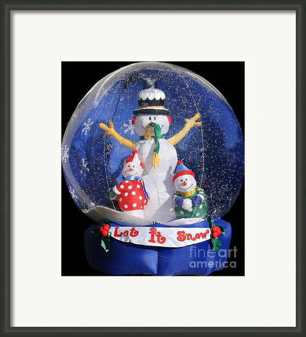 Let It Snow Framed Print By Christine Till