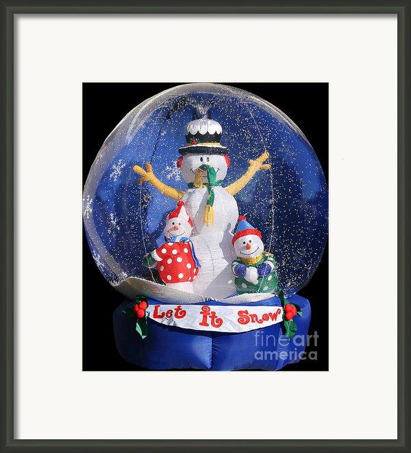 Let It Snow Framed Print By Christine Till