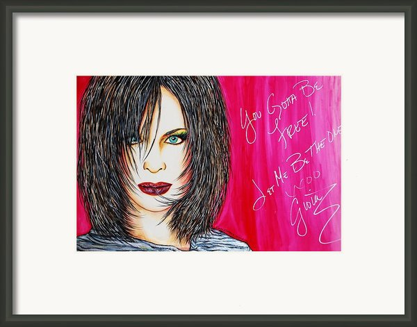 Let Me B Free And The One Framed Print By Joseph Lawrence Vasile