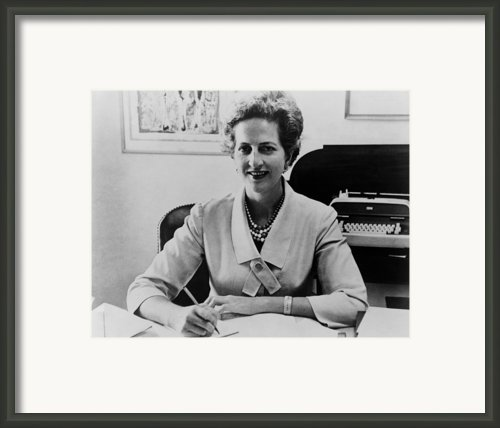Letitia Baldrige, First Lady Jacqueline Framed Print By Everett