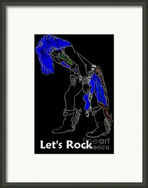 Lets Rock-black Framed Print By Jeannie Atwater Jordan Allen