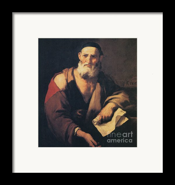Leucippus, Ancient Greek Philosopher Framed Print By Science Source