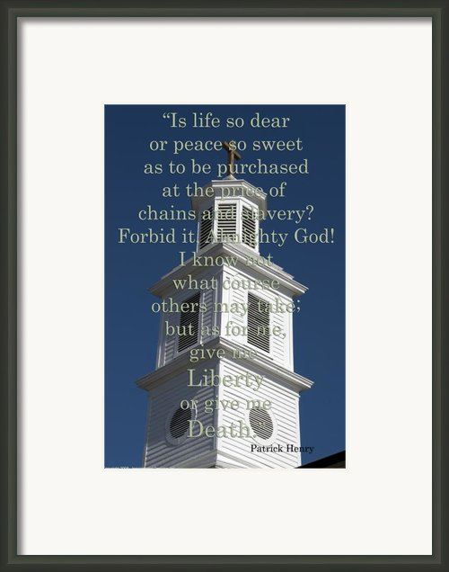 Liberty Or Death Framed Print By Kelvin Booker