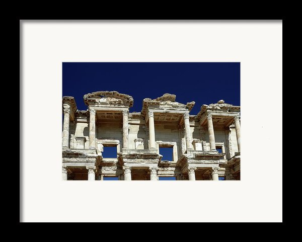 Library Of Celsus In Ephesus Framed Print By Sally Weigand