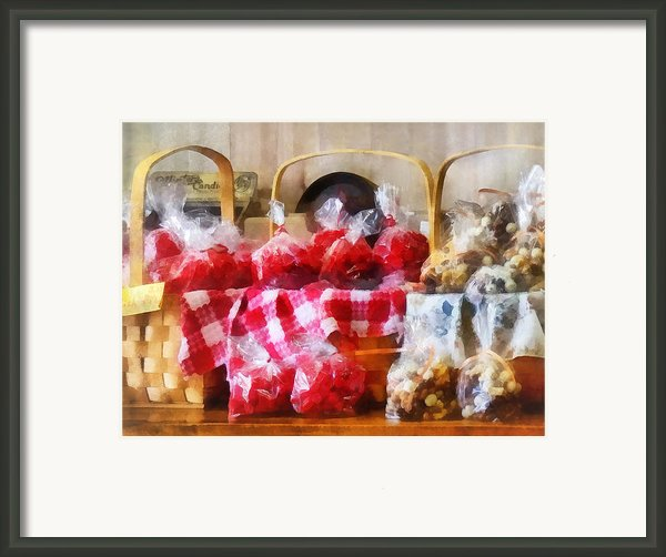 Licorice And Chocolate Covered Peanuts Framed Print By Susan Savad