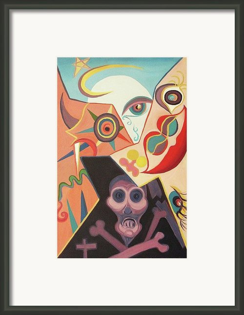 Life Death Sex Evil Framed Print By Suzanne  Marie Leclair