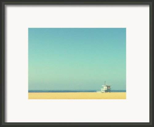 Life Guard Tower Framed Print By Denise Taylor