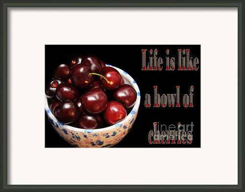 Life Is Like A Bowl Of Cherries 2  Framed Print By Andee Photography
