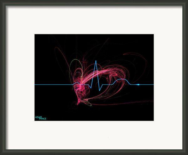 Life Signs Framed Print By Adam Vance