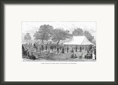 Life-sized Chess, 1882 Framed Print By Granger