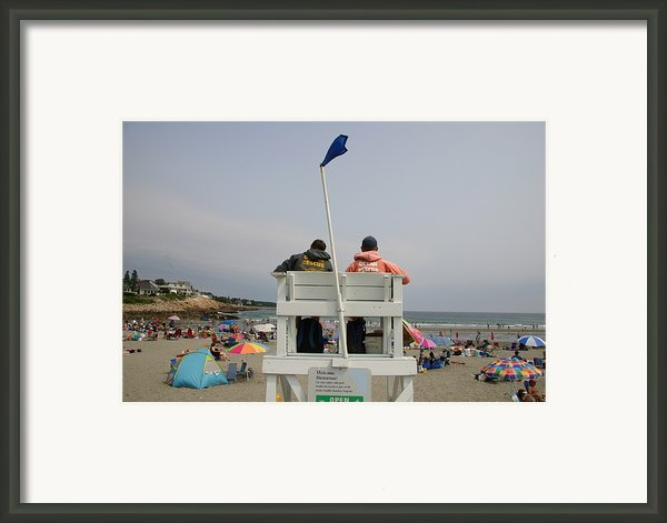 Lifeguards Watch Over The Traditional Framed Print By Stephen St. John