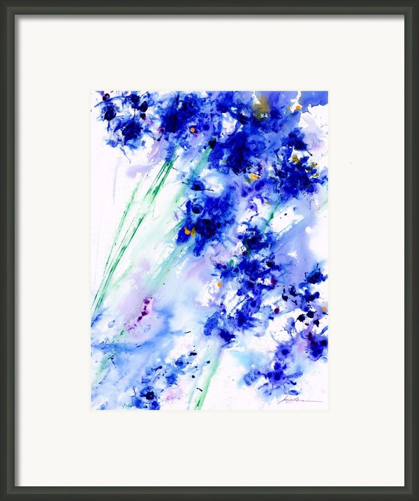 Lifes Drama Blue Framed Print By Jerome Lawrence