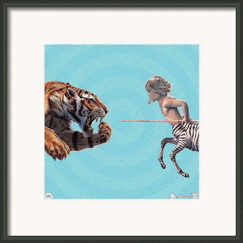 Liger  Swift Hand Framed Print By David Starr