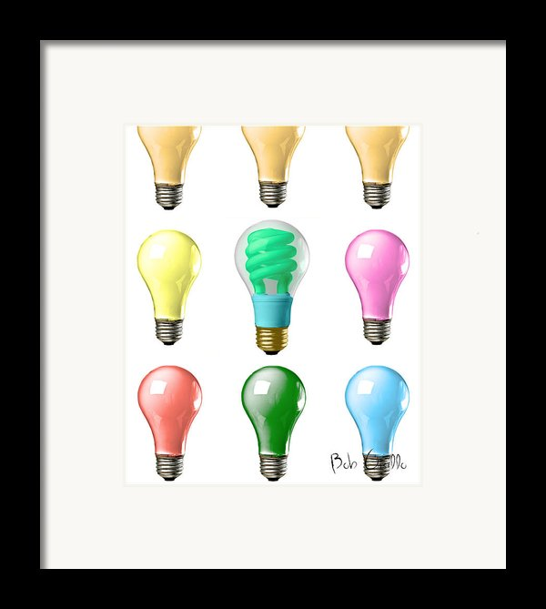 Light Bulbs Of A Different Color Framed Print By Bob Orsillo