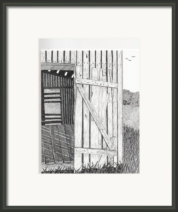 Light Filtering Through Shed Framed Print By Pat Price