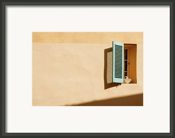Light On Window Framed Print By Www.saint-tropez-photo.com