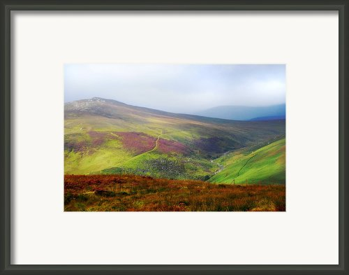 Light Over Wicklow Hills. Ireland Framed Print By Jenny Rainbow