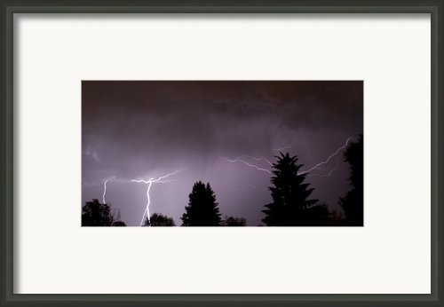 Lightening Storm Framed Print By Shirleen Mitchell