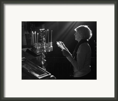 Lighting A Prayer 1 Framed Print By Julia Bridget Hayes