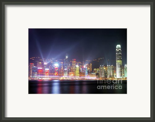 Lighting Up The Harbor Framed Print By Bibhash Chaudhuri