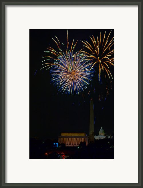 Lighting Up The National Mall Framed Print By David Hahn