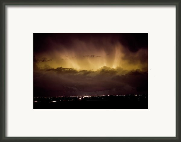Lightning Cloud Burst Boulder County Colorado Im29 Framed Print By James Bo  Insogna