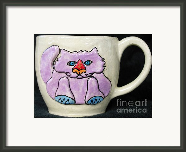 Lightning Nose Kitty Mug Framed Print By Joyce Jackson
