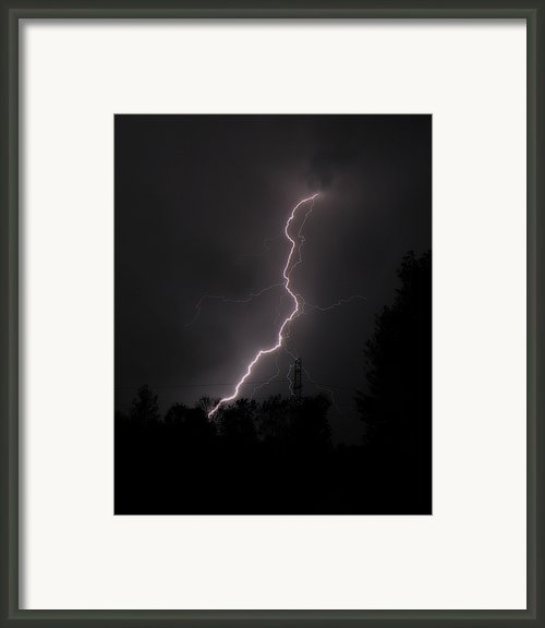 Lightning Strikes Framed Print By Scott Hovind