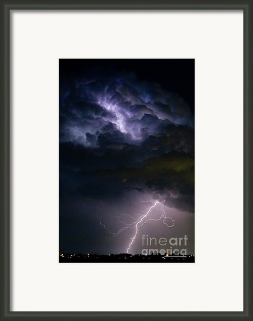Lightning Thundehead Storm Rumble Framed Print By James Bo Insogna