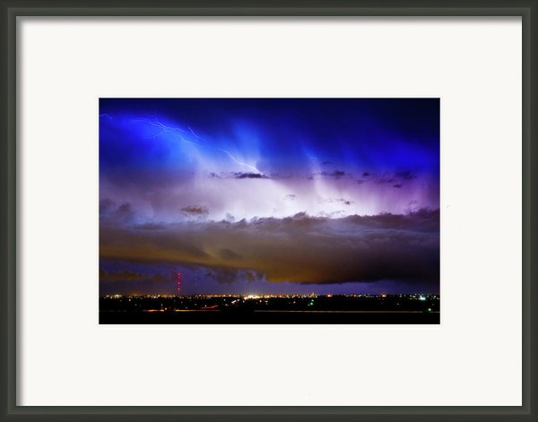 Lightning Thunder Head Cloud Burst Boulder County Colorado Im39 Framed Print By James Bo Insogna