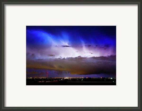 Lightning Thunder Head Cloud Burst Boulder County Colorado Im39 Framed Print By James Bo  Insogna