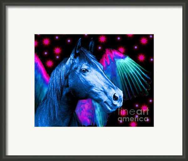 Lil Angels Blue Angel Framed Print By Tisha Mcgee
