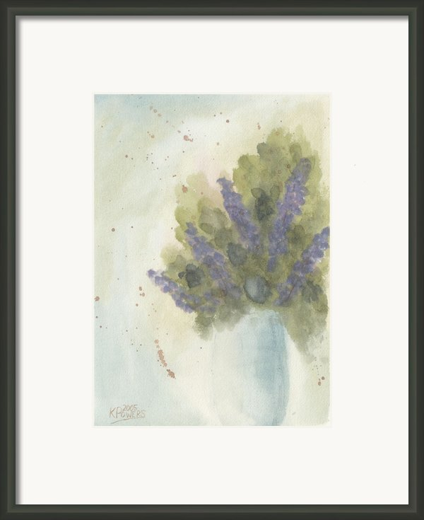 Lilacs Framed Print By Ken Powers