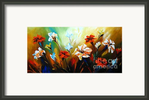 Lily In Bloom Framed Print By Uma Devi