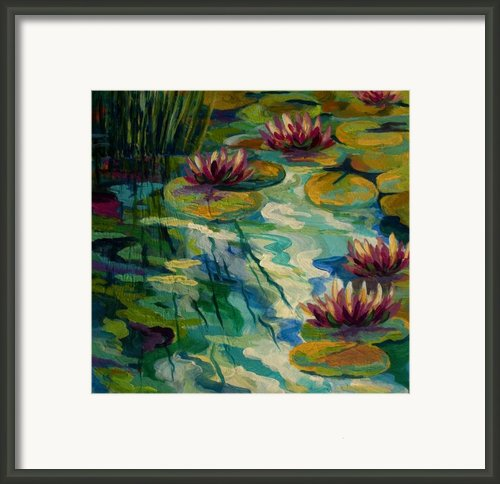 Lily Pond Ii Framed Print By Marion Rose
