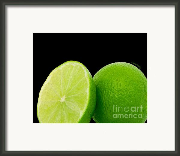 Limes Framed Print By Cheryl Young