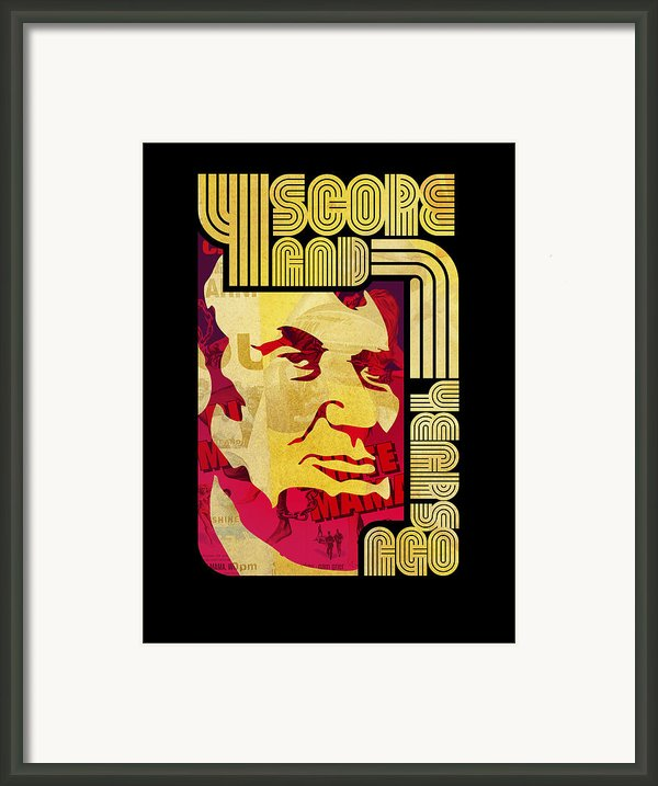 Lincoln 4 Score On Black Framed Print By Jeff Steed