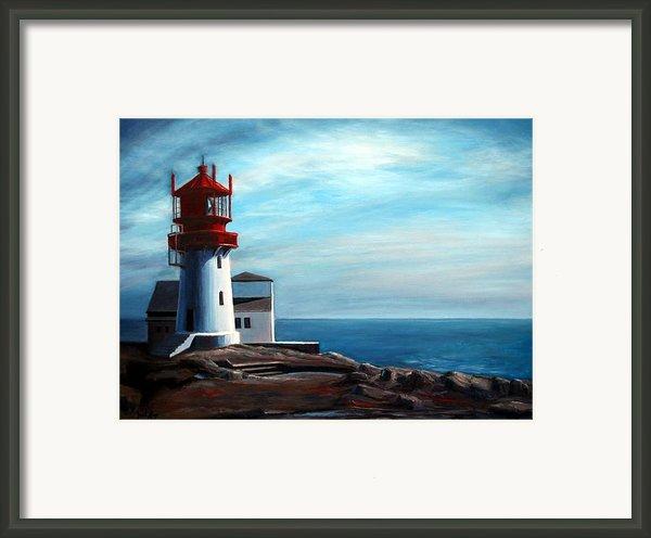 Lindesnes Lighthouse Framed Print By Janet King
