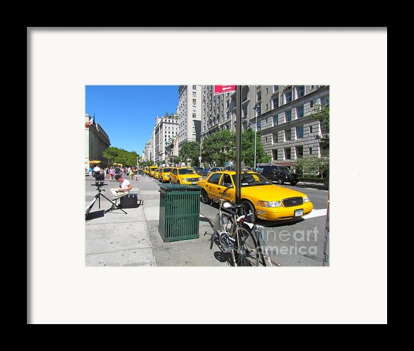 Lined Up For Business Framed Print By Randi Shenkman